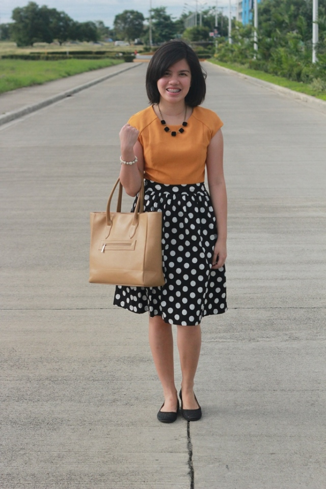 Mustard and Polka Dots by www.cyrellenicolette.com