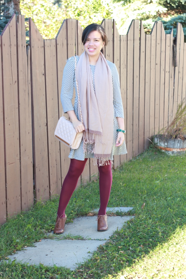 Maroon Tights for Fall