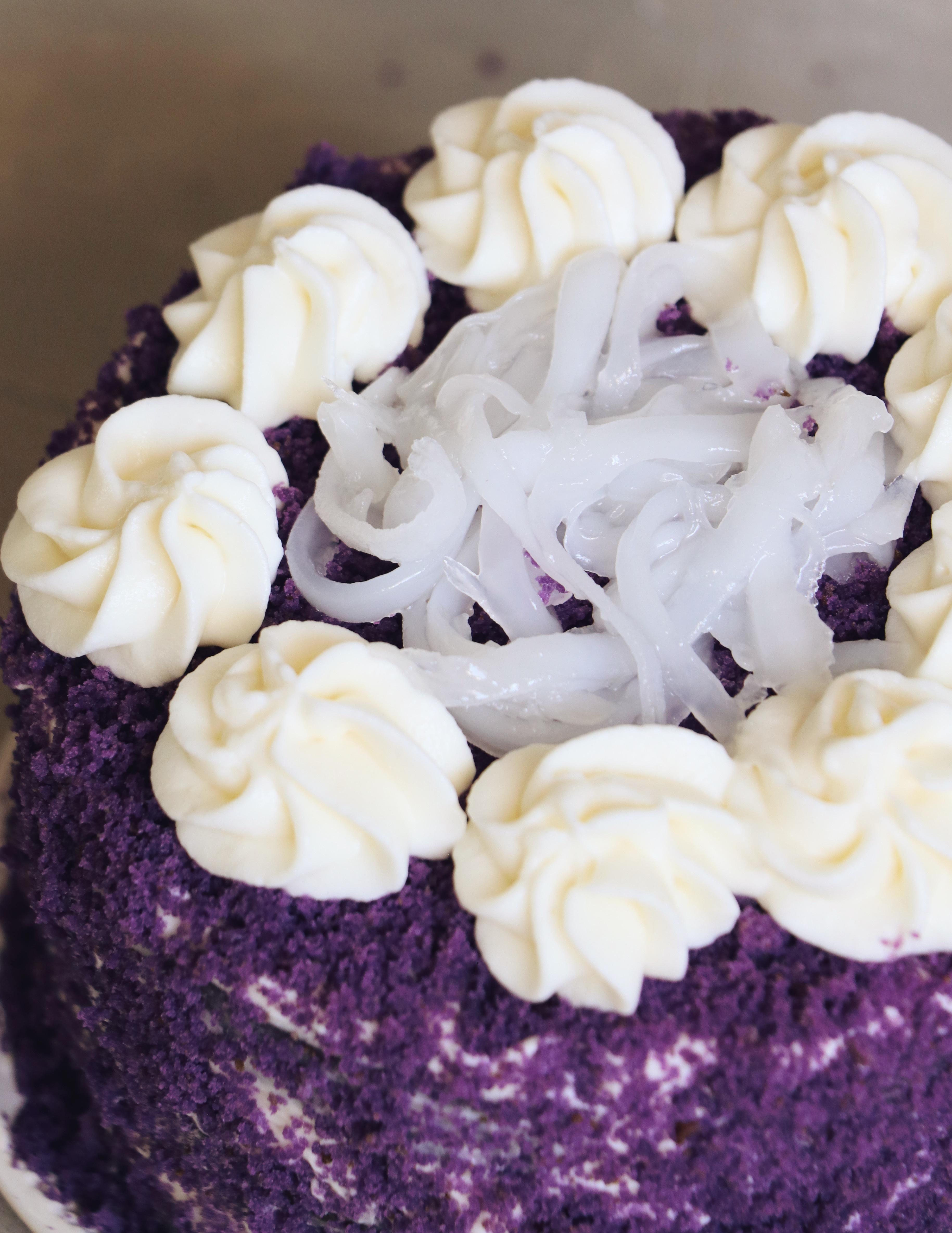 Small batch ube cake